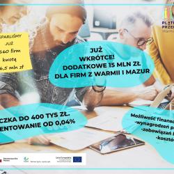 Już niebawem! Dodatkowe 15 mln zł na Pożyczkę Płynnościową!